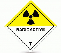 101218-1050 Labels Dangerous Goods Radioactive 50x50mm Pack 250