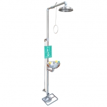 101904-0002 Combined Shower and Eyewash Station , Floor mounted
