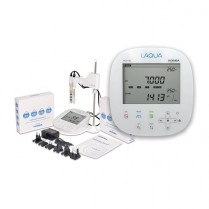 3999960180 Laqua Benchtop PC1100 pH/ORP/COND/TDS/Res/Sal/Temp LCD Meter Kit