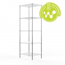 663-523 Stainless Steel Wire Shelving 455 x 610 (5 shelves)