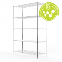 663-525 Stainless Steel Wire Shelving 455 x 1220 (5 shelves)