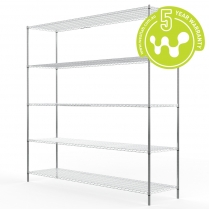 663-527 Stainless Steel Wire Shelving 455 x 1825 (5 shelves)