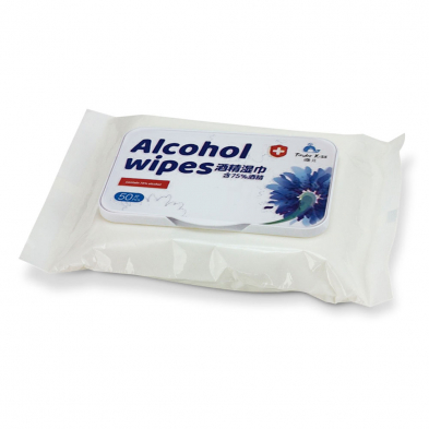 664-207 Alcohol Wipes, 75% Alcohol, 50 Wipes Per Pack