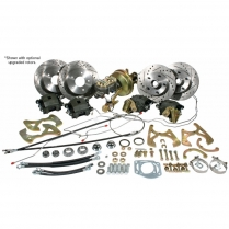 5864FRBK-S 1958-64 Chevy Car Front & Rear Disc Brake Kit Stock Spindle