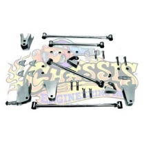 AR-24318 1928-31 Ford Rear Tri 4-Bar Kit - Plain Steel