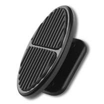 XBFR-6114 Oval Foot Rest Pad - Black & Rubber