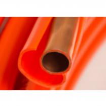 "1/2"" REF 100' COATED COPPER COIL-OIL TEC (ORANGE)"