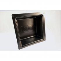 BLACK PLASTIC TUB BOX-TOP AND BOTTOM