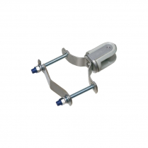 """2"""" PORCELAIN WIRE HOLDER WITH STEEL CLIP FOR 1-1/4"""" TO 3"""" CONDUIT"""