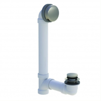 PVC FOOT ACTUATED BRUSHED NICKEL TUB STOP