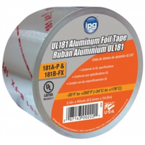 """2-1/2"""" X 60 YARD ALUMINUM TAPE WITH LINER"""