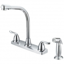 BOSTON HARBOR 2 HANDLE KITCHEN FAUCET WITH SPRAYER