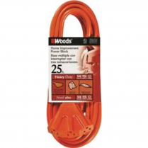 3 OUTLET POWER CORD, 25 FOOT