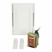 WHITE CHIME KIT WITH TRANSFORMER AND 2 PUSH BUTTONS