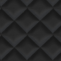 Double Quilted Arctic 9009 BLACK,2X2 DIAMOND (F/R)
