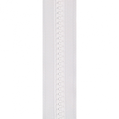 ZIPVC9975 #5 YKK Vislon Zipper Chain - White