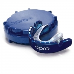 GOLD BRACES OPRO Blue/Pearl Mouthguard