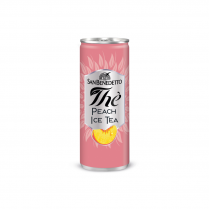 San Benedetto Peach Tea Can 24/330ml