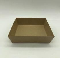 Square Kraft Box 136x136x50 ( lid PETBB14143) 400/cs