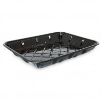 8P PET Black Meat Tray  300/CS (699629)