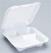 7x7x2.5 Hinged 3-C Foam Box (87547) 200/cs