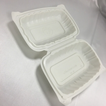 """PP Hinged Container White(=FST1A) 9x6x3"""" 250/cs"""