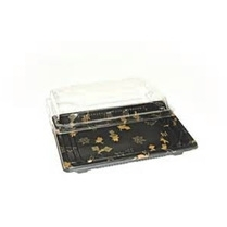 Sushi Tray Maple (SA-02) with C/Lid 185*130*20mm 400sets/cs