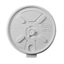 8FTL lift n' Lock White Lid for 8J8 Foam Cup 1000/cs