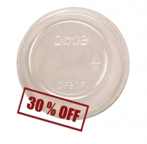 Clear Dome Lid No Hole for Dixie CC9OF cup 1000/cs