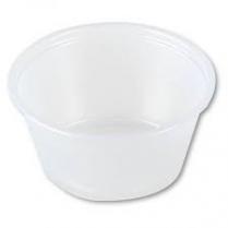 """Portion Cup """"Squat"""" Plastic 2500/case (10X250pcs)"""