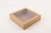 """#5 9x9x2.5"""" Square Catering Box (Lid CB9925L) 10pc/Pack"""