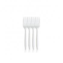 White Plastic Fork 1000/cs