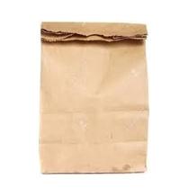 "Kraft Bag 14lb Regular 7.25x5.125x14.5"" 500/pk"