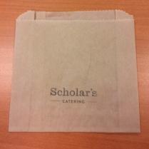 "50% PPAID UBC Scholar kraft pastry bag (5x4.5 x1.5"") 2000/cs"