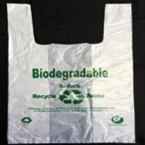 "KKW Bio Eco.T-Shirt Bag 8.75""+5""x17"" (S) 15mic 3000/cs"