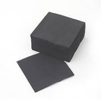 2Ply 1/4 Fold Cocktail Napkin Black 2000/cs