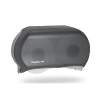 Black Double Jumbo Toilet Paper Dispenser Universal