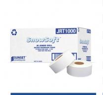 "JRT1000 SnowSoft 2ply Jumbo Bath Tissue 1000""x12/cs"