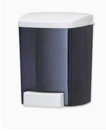 800ml bulk hand soap dispenser black with white lid - each