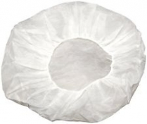 21' White Folded Hair Net Bouffant (Folded) 100/pk