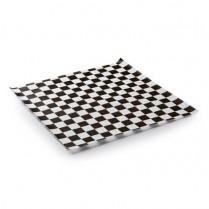 "018187 Checker Liner  Black 12""x12"" (571273) 2000/cs"