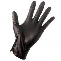 TACTICAL PLUS Black Nitrile Glove (L) 100/box (10 box/cs)