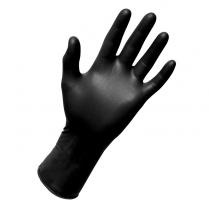 TACTICAL PLUS Black Nitrile Glove (M) 100/box (10 box/cs)
