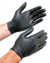 TACTICAL PLUS Black Nitrile Glove (S) 100/box (10 box/cs)