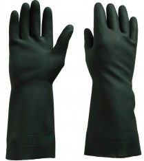 33017 Rubber Gloves Black 9 Large 12/pk