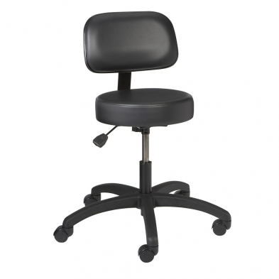 optical dispensing chair, optician chair, optician stool, vinyl stool with back
