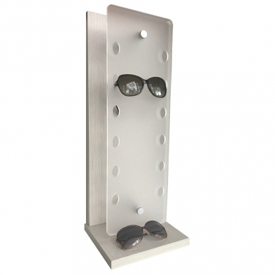 countertop sunglass display, high end glasses display