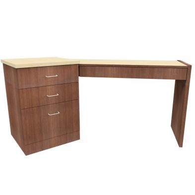 angled dispensing table, optical furniture, dispensing table, optical dispensing station