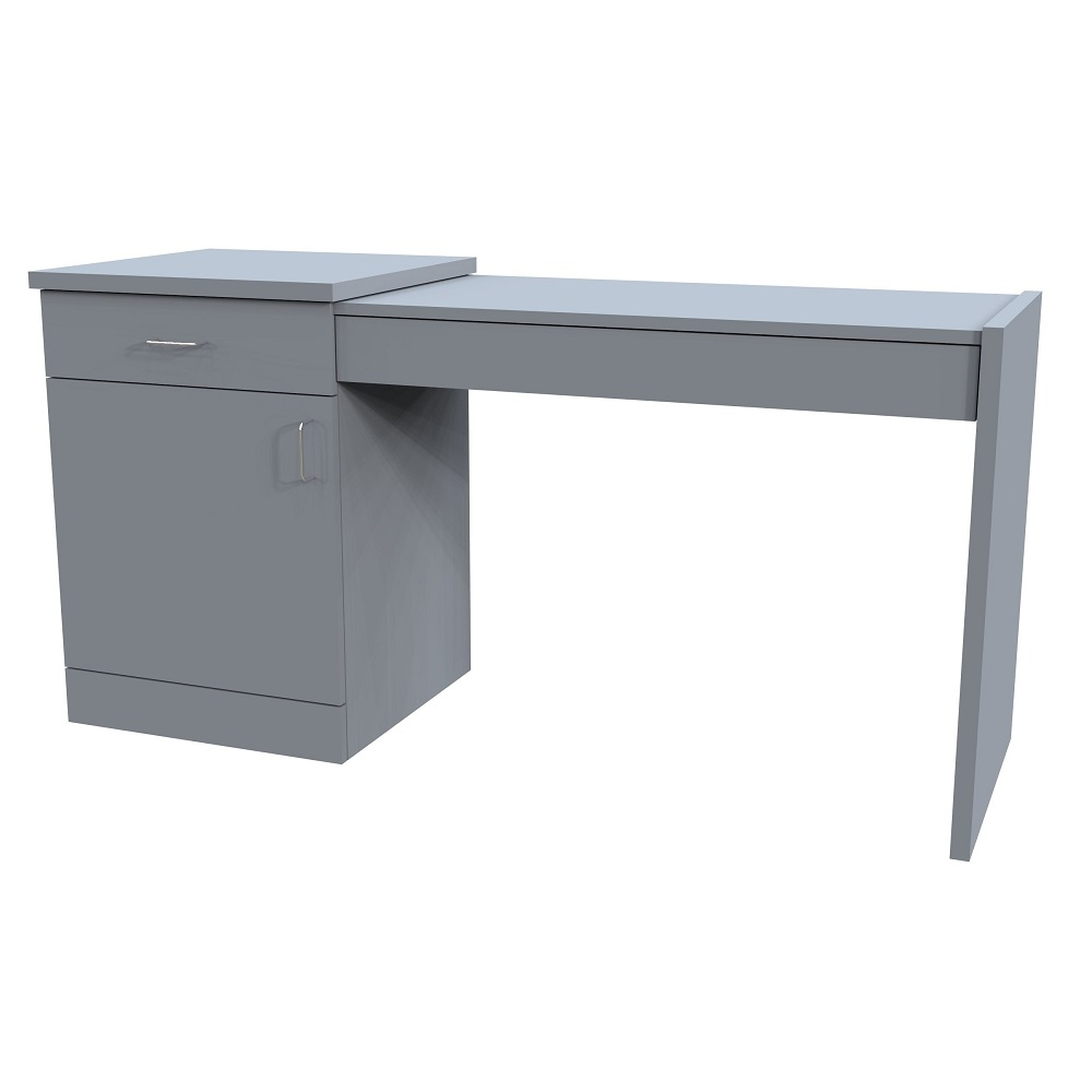 Classic Left Hand Table with 1 Door & Drawer Pedestal