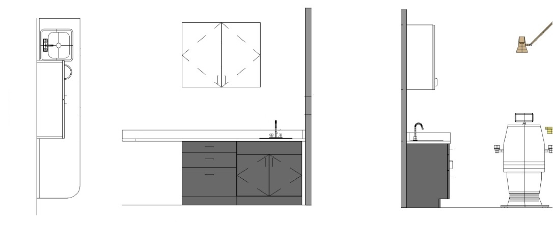 exam room layout, exam room cabinets, exam room counter, optical space design, optical cabinets